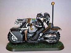 Black Templar biker with plasma pistol