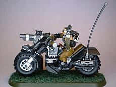 Black Templar Scout bike
