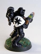 Black templar Initiate with plasma rifle
